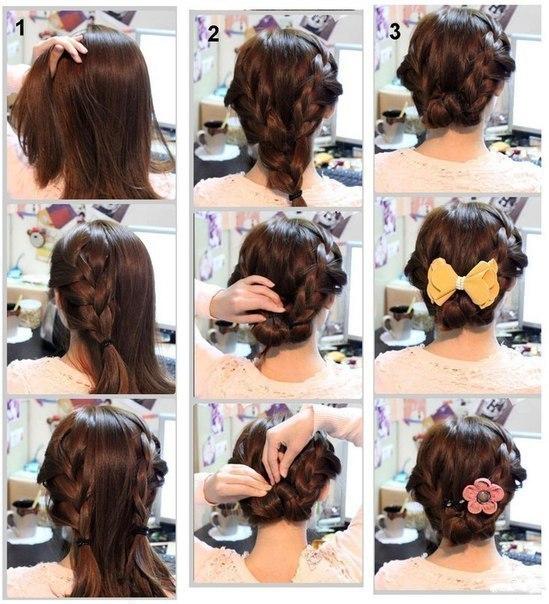 Красивые причёски на короткие волосы фото поэтапно