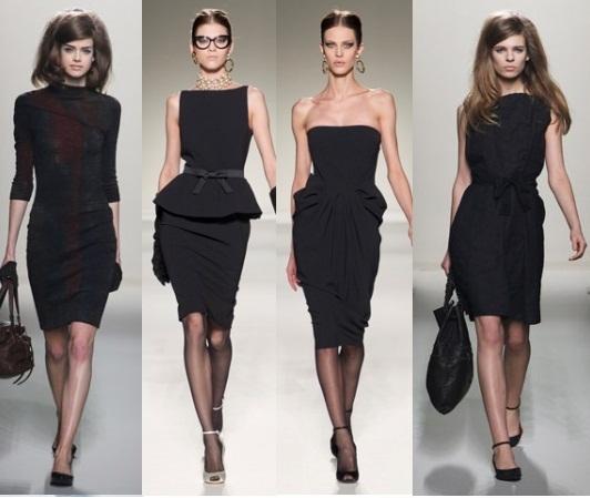 Модель в платье черном фото